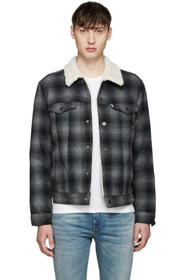 Levi's - Grey Sherpa Trucker Jacket