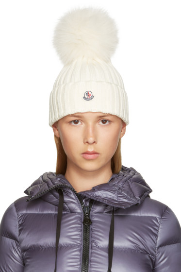 Moncler - Ivory Wool Beanie