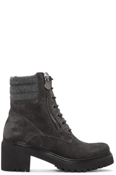 Moncler - Grey Viviane Boots