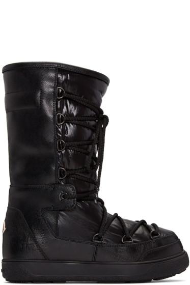 Moncler - Black Leather Laetitia Boots