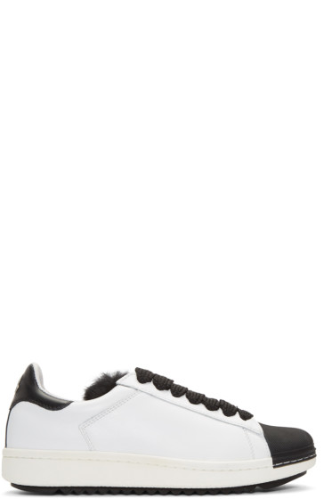 Moncler - White Fur Angeline Sneakers