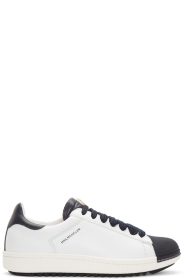 Moncler - White and Navy Angeline Sneakers