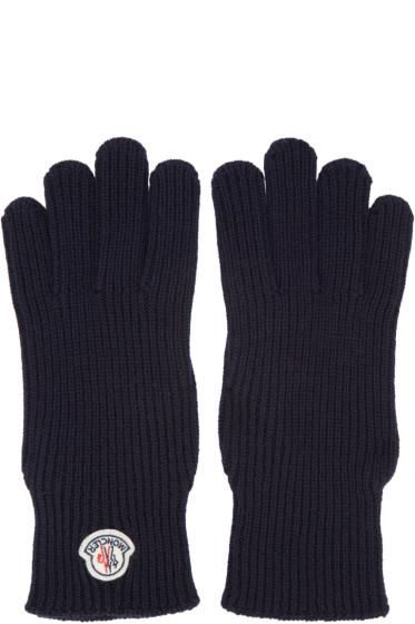 Moncler - Navy Wool Gloves