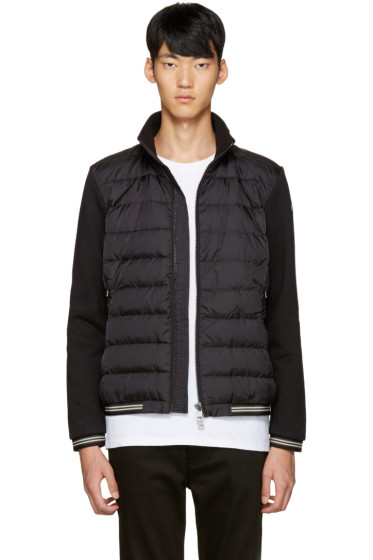 Moncler - Black Down Maglia Sweater