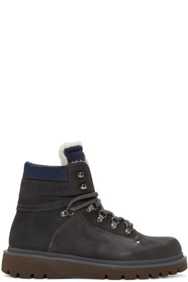 Moncler - Grey Egide Boots