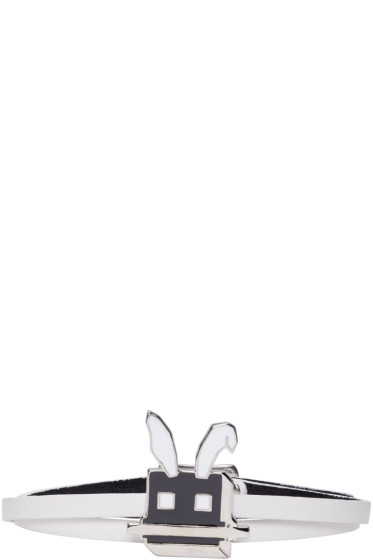 McQ Alexander Mcqueen - White Electro Bunny Mini Wrap Bracelet
