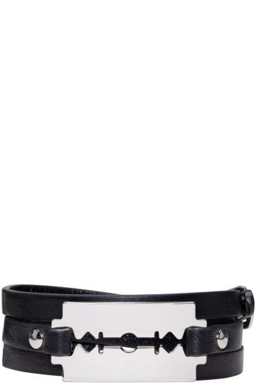 McQ Alexander Mcqueen - Black Razor Wrap Bracelet