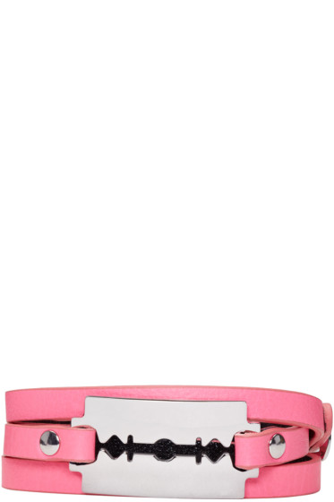McQ Alexander Mcqueen - Pink Razor Wrap Bracelet