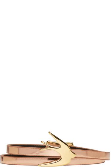 McQ Alexander Mcqueen - Rose Gold Mini Wrap Swallow Bracelet
