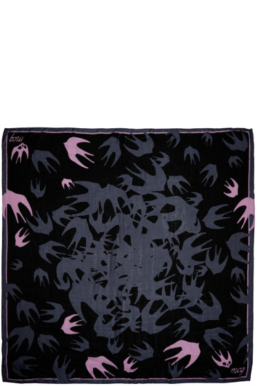 McQ Alexander Mcqueen - Blue Swallows scarf