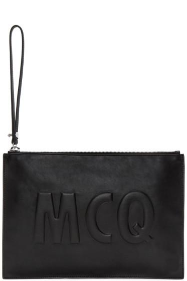 McQ Alexander Mcqueen - Black Leather Logo Pouch