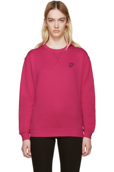 McQ Alexander Mcqueen - Pink Embroidered Pullover