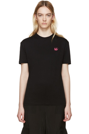 McQ Alexander Mcqueen - Black Classic Embroidered T-Shirt