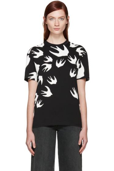 McQ Alexander Mcqueen - Black Swallows T-Shirt