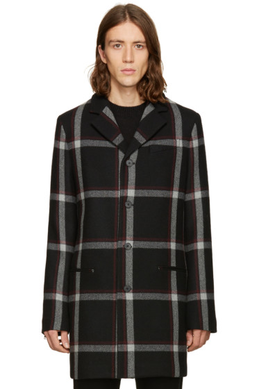 McQ Alexander Mcqueen - Black Wool Curtis Coat