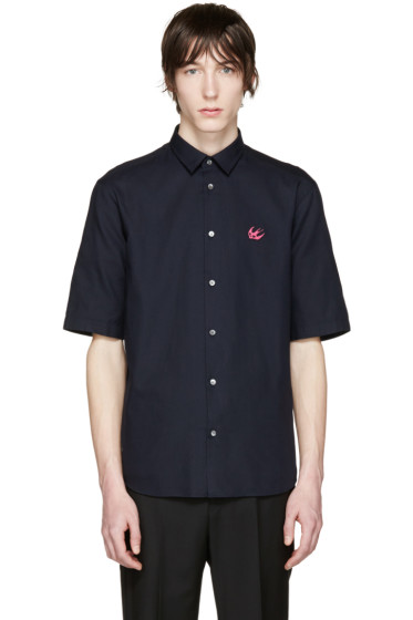 McQ Alexander Mcqueen - Navy Embroidered Sheehan Shirt
