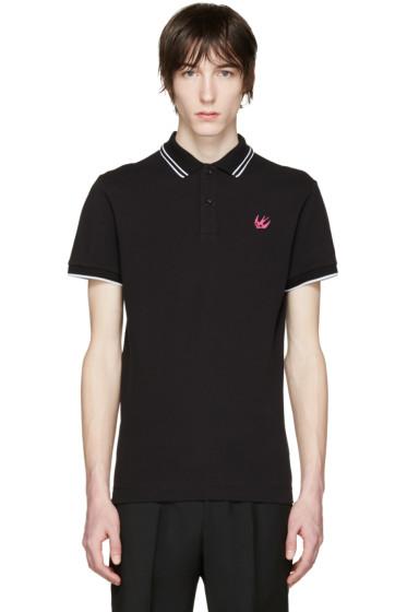 McQ Alexander Mcqueen - Black Embroidered Polo