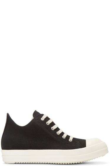 Rick Owens Drkshdw - Black Canvas Sneakers