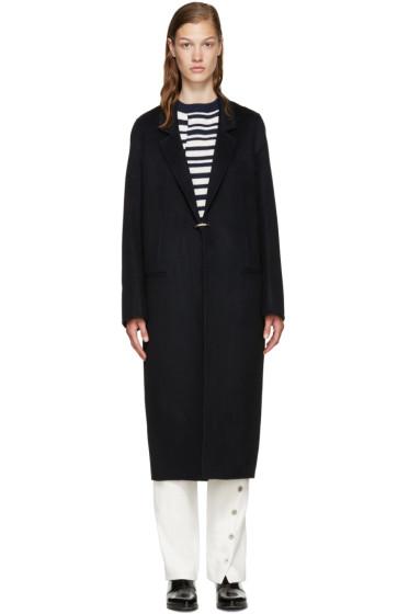 Acne Studios - Navy Wool Foin Coat