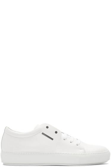 Acne Studios - White Adrian Smiley Sneakers