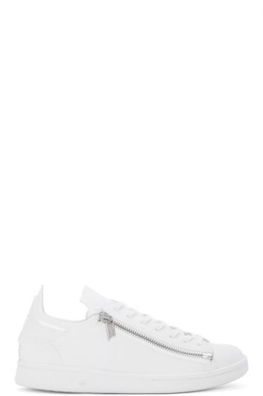 Y-3 - White Stan Zip Sneakers