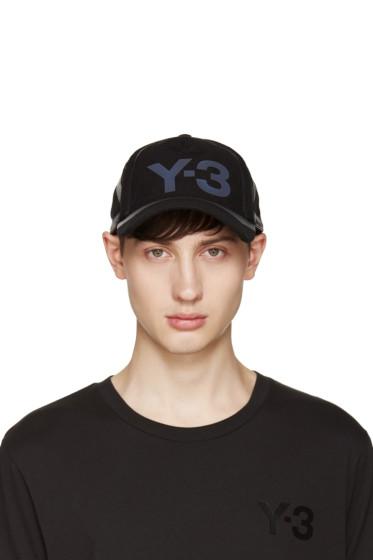 Y-3 - Black Constr Cap