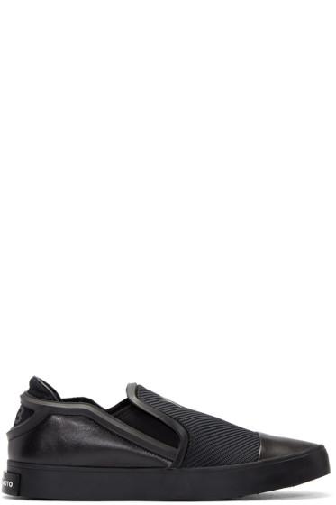 Y-3 - Black Layer Slip-On Sneakers