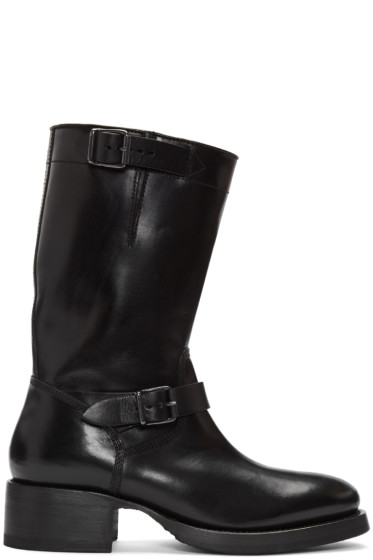 Dsquared2 - Black Leather Buckle Boots