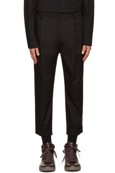 Helmut Lang - Black Front Cuff Trousers