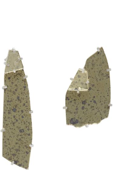 Maison Margiela - Gold & Silver Mirror Earrings