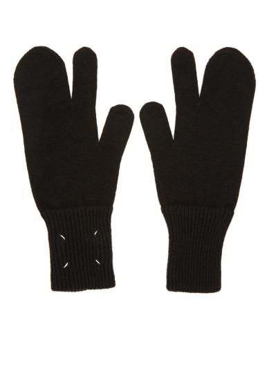 Maison Margiela - Black Tabi Gloves