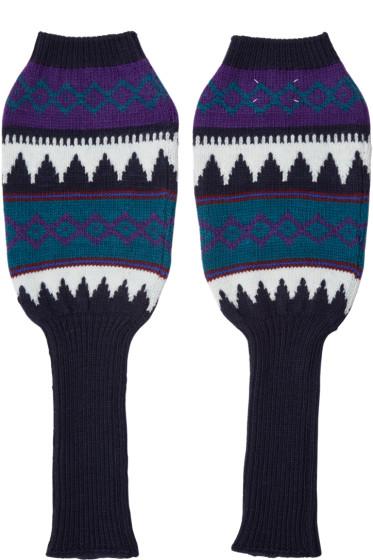 Maison Margiela - Multicolor Knit Arm Warmers