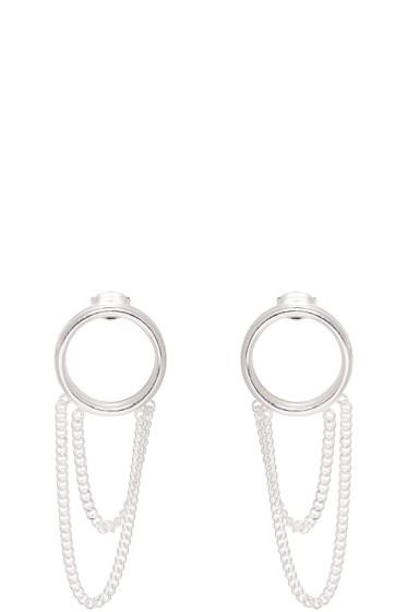 Maison Margiela - Silver Chain Hoop Earrings