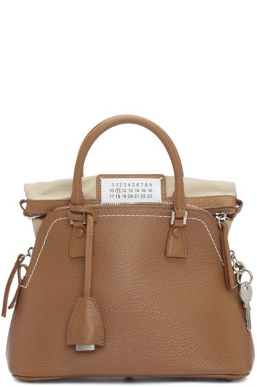 Maison Margiela - Brown Grained Leather Bag