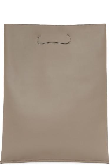 Maison Margiela - Taupe Large Shopper Tote Bag