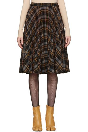 Maison Margiela - Multicolor Tartan Pleated Skirt