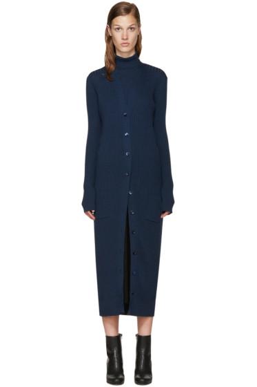 Maison Margiela - Navy Long Wool Cardigan