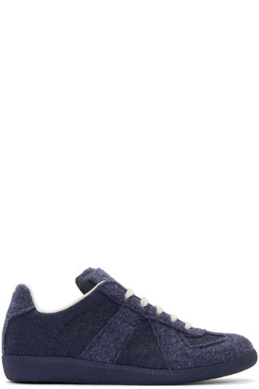 Maison Margiela - Navy Felted Replica Sneakers