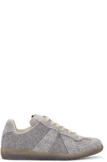 Maison Margiela - Grey Felt Replica Sneakers