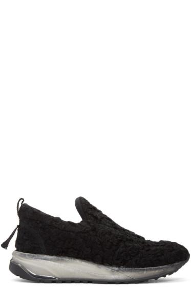 Maison Margiela - Black Bouclé Sneakers