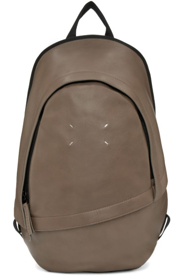 Maison Margiela - Brown Leather Backpack