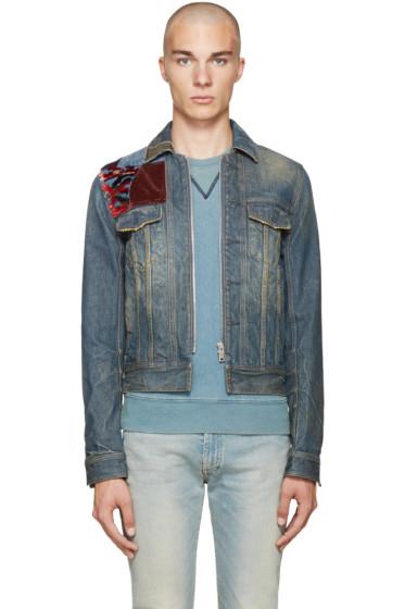 Maison Margiela - Indigo Denim Patchwork Jacket