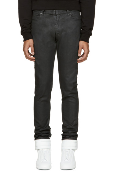 Maison Margiela - Black Coated Jeans