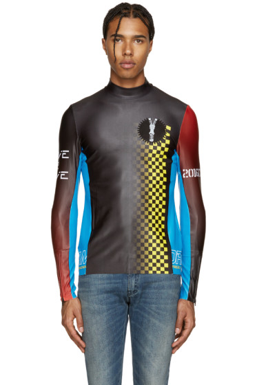 Maison Margiela - Black & Tricolor Racecar Pullover