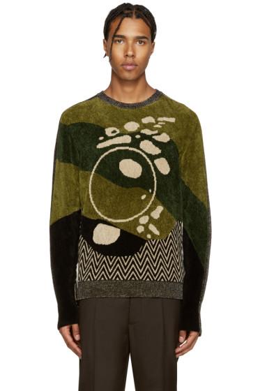 Maison Margiela - Tricolor Jacquard Sweater