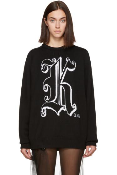 Christopher Kane - Black Wool 'Kane' Sweater