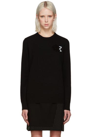 Christopher Kane - Black Sequin Rose Sweater