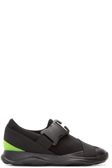 Christopher Kane - Black Neon Spoiler Sneakers