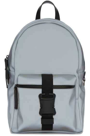 Christopher Kane - Grey Reflective Nylon Backpack