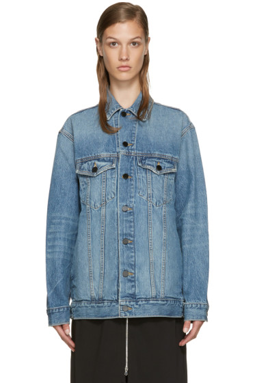 Alexander Wang - Indigo Denim Oversized Daze Jacket